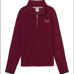 VS PINK POLAR FLEECE QUARTER-ZIP